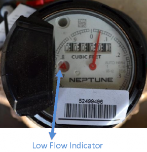 Low flow indicator
