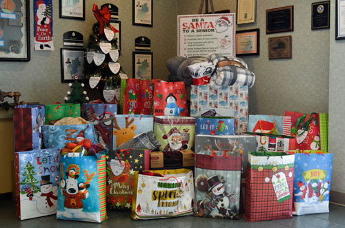 All o fthe gifts shown in the picture above went to a member of our community who would have otherwise not recieved a gift.